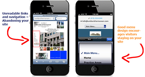 mobile web design oceanside